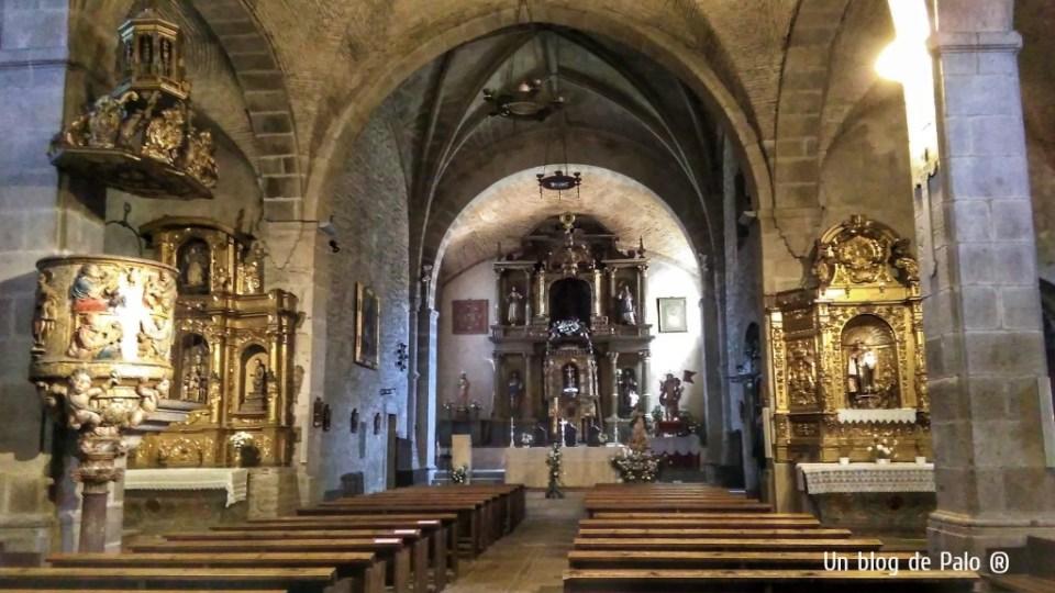 Interior de la Iglesia de La Alberca