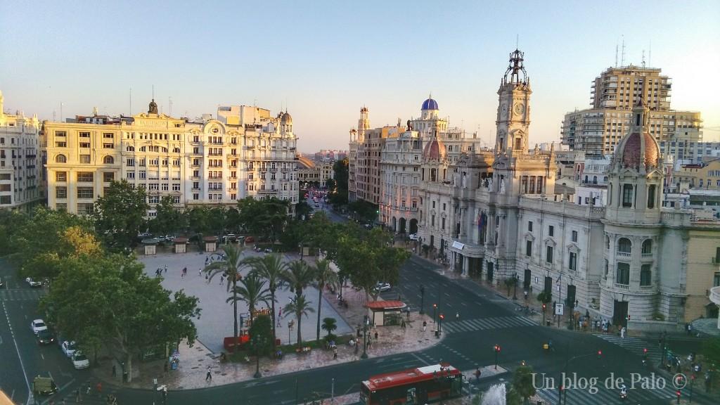 Vistas desde el Ateneo Mercantil de Valencia