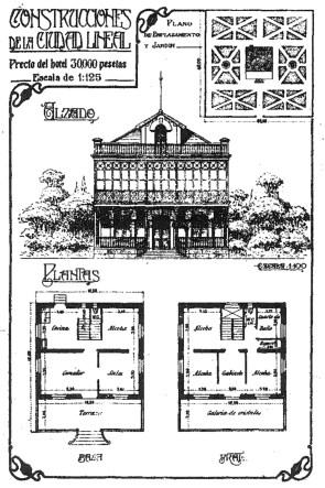 """Originales de vivienda proyectada en la calle Juan Peréz Zúñiga, muy similar a Villa Sotera. (Revista """"La Ciudad"""