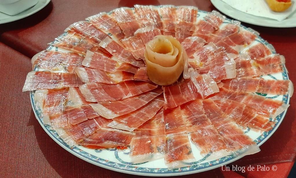 Un buen plato de jamón de Guijuelo