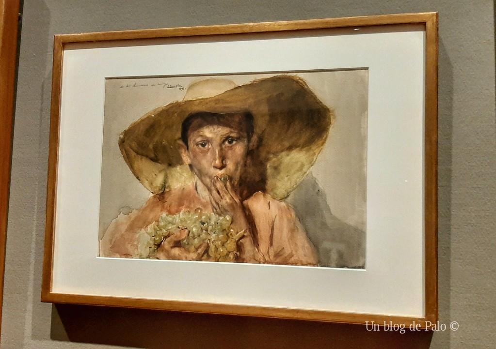 Una de las obras de la Exposición Sorolla Dibujante