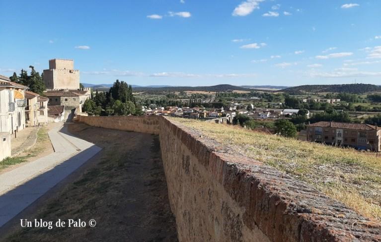Vistas de la muralla de Ciudad Rodrigo y el Castillo al fondo