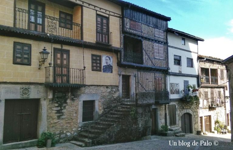 Típica arquitectura serrana en Mogarraz