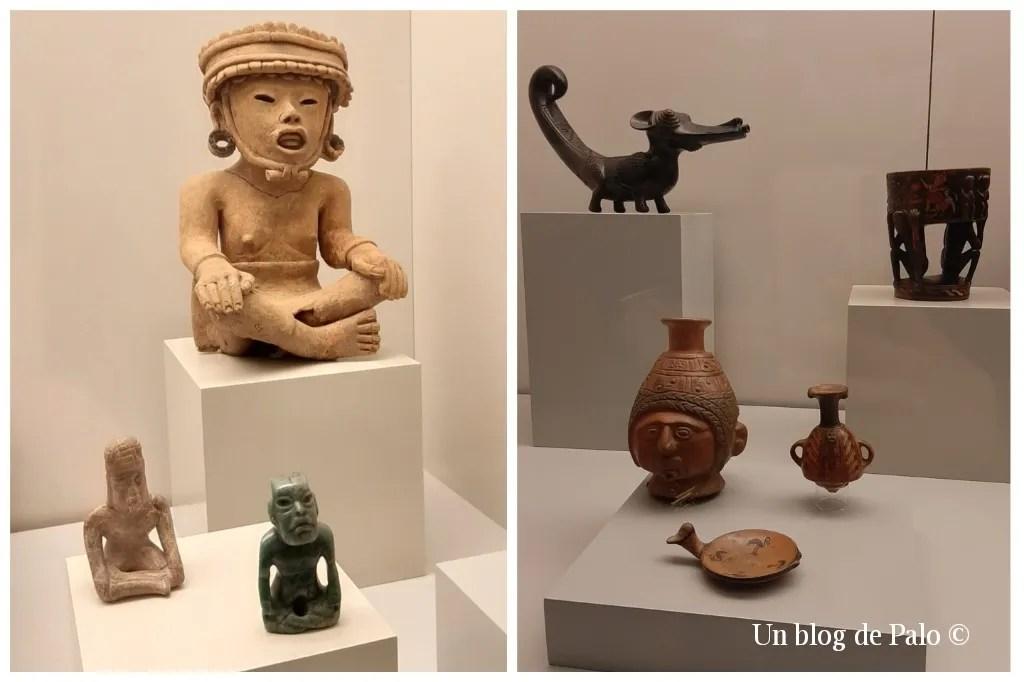 Objetos y piezas con figuras antropomorfas y animales