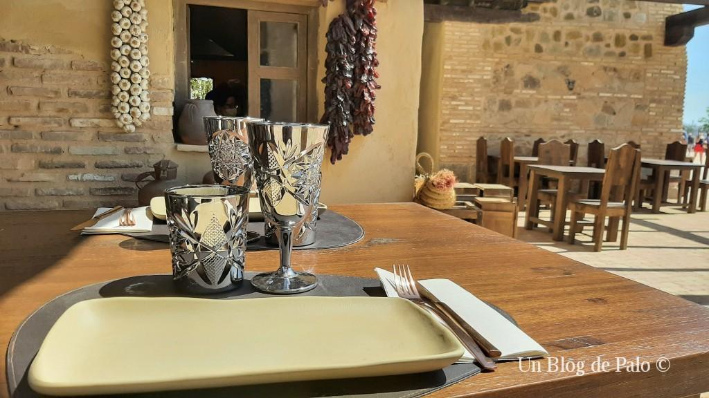 A mesa puesta en Puy du Fou