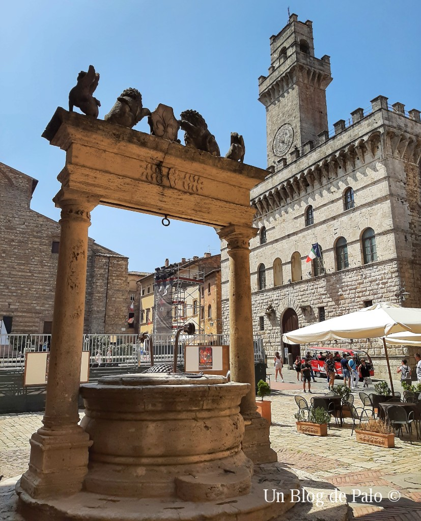 Plaza central de Montepulciano
