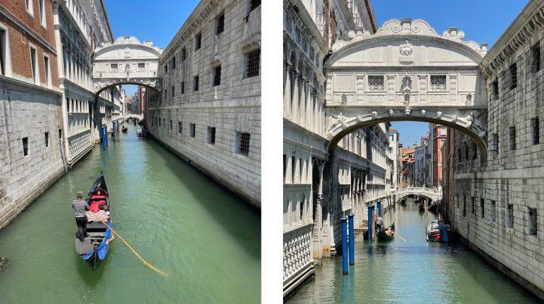 Venezia canal y puente de los suspiro