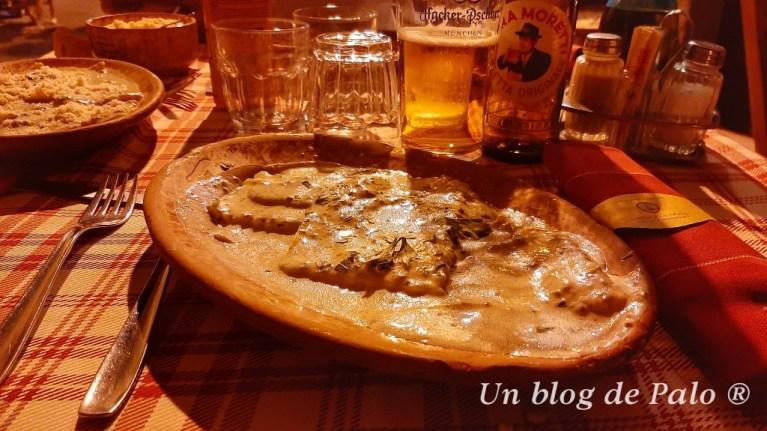 Pasta con setas y trufa