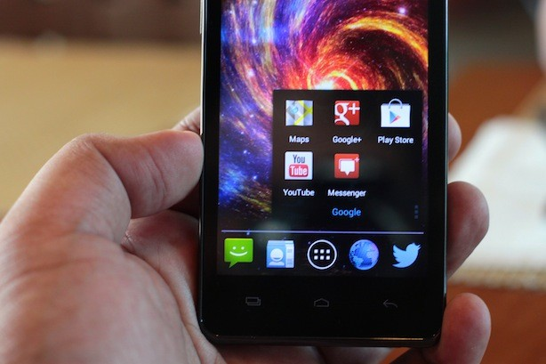 Cherry Mobile Thunder display quality/resolution is okay but viewing angles not so much
