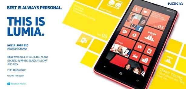 Nokia Lumia 620 and Lumia 820 coming to the Philippines this weekend!