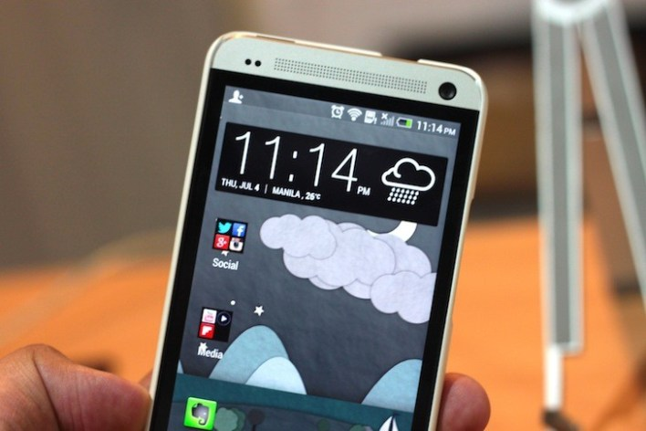 The HTC One in a Krusell White Metal ColorCover Case from Kimstore