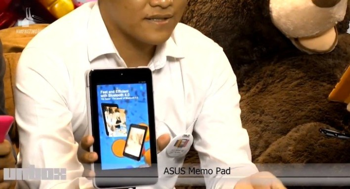 Eason with the brand new ASUS MeMo Pad 7 HD