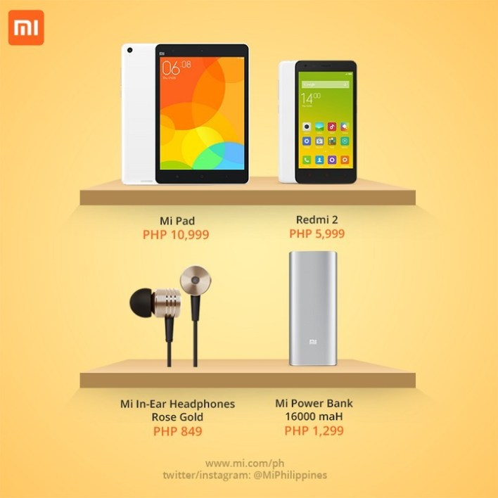 Xiaomi said that the prices of these products will be the same online and offline, for the time being