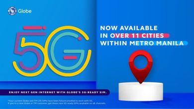 Photo of Globe Announces New 5G Ready Metro-Manila Areas