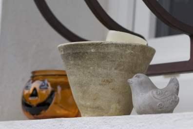 Un pot des Landes et un photophore citrouille