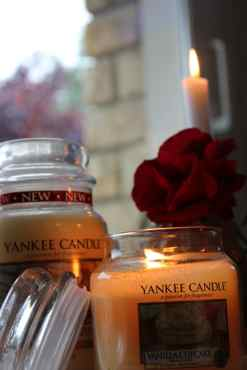 Bougie yankee candle allumée