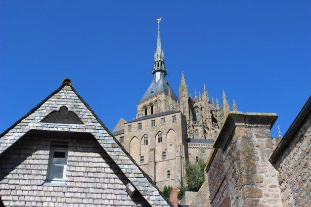 Vue des toits du Mont Saint-Michel