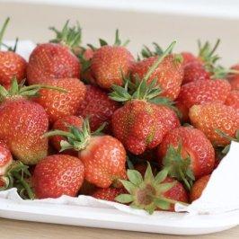 Des fraises du jardin pour le virgin Mojito