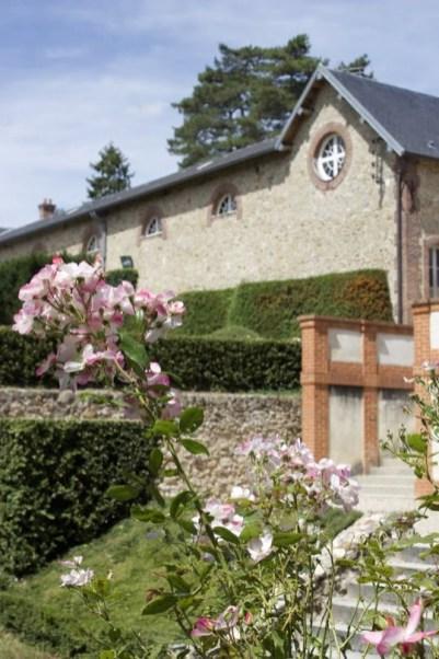 rosier devant l'Orangerie du château de Breteuil