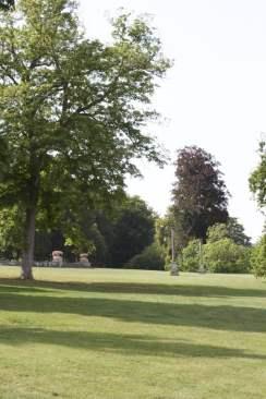 Jardin à l'anglaise du château de Bizy