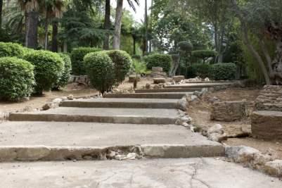Allées des jardins d'Alfàbia à Majorque