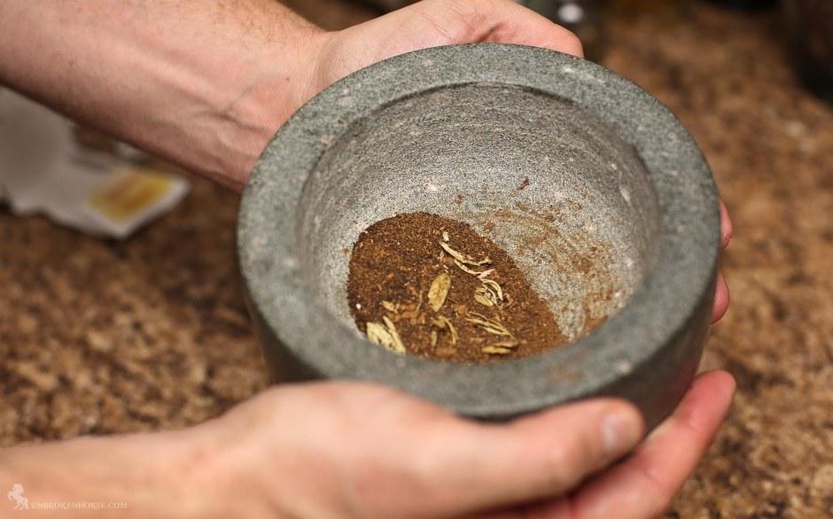 smashed chai ingredients