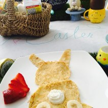 Bunny pancakes, thank you Pinterest for last minute inspiration