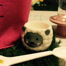 Egg cups and spoon