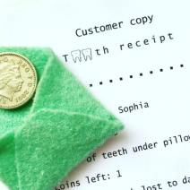 Tooth Fairy receipts. Proof of delivery!