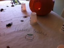 Draw on white paper tablecloths