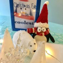 Christmas Eve really is the coolest. An arctic, winter wonderland, penguin tea party