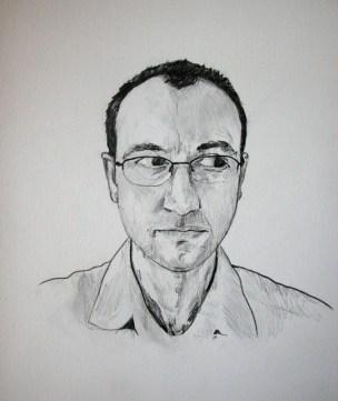 Joe Zane - graphite on paper