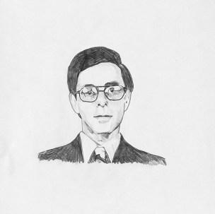 Les Levine - graphite on paper