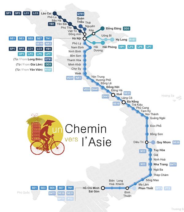 carte train Vietnam map