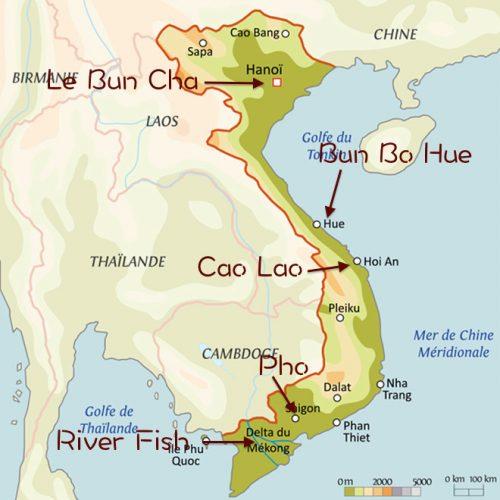 carte gastronomie Vietnam