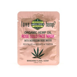 Uncle Bud's Hemp Rose Gold Face Mask