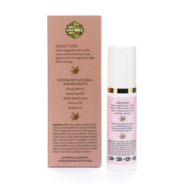 Miss Bud's CBD Anti-Wrinkle Cream -01