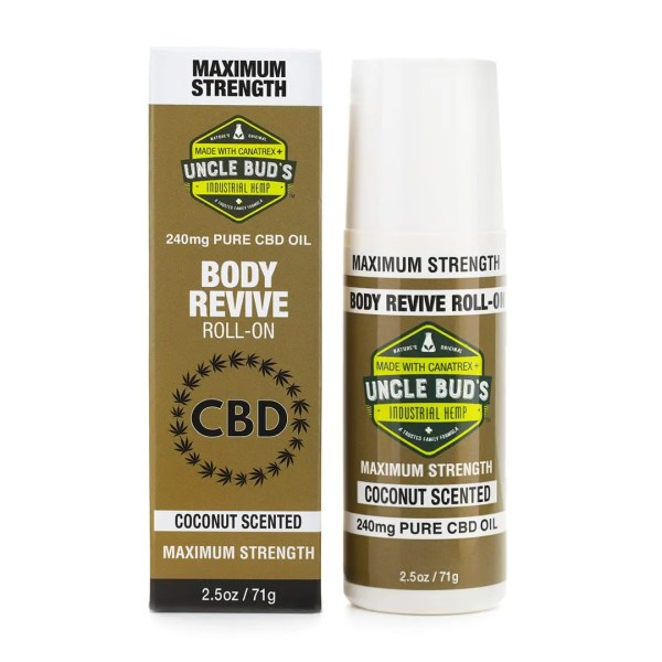 Uncle bud's CBD body revive roll-on