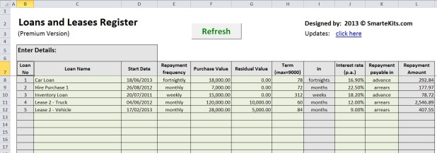 amortization schedule for car loan excel
