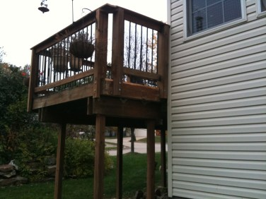 Built & stained completed deck