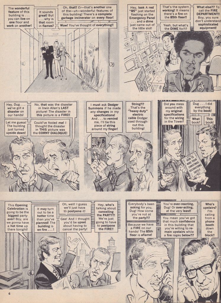 THE TOWERING INFERNO MAD MAGAZINE ISSUE 177
