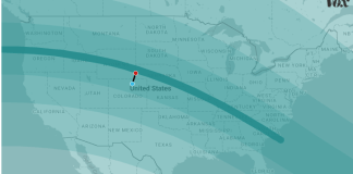 Path of totality, 2017 eclipse