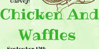 MGCC Chicken & Waffles poster. Information in caption.