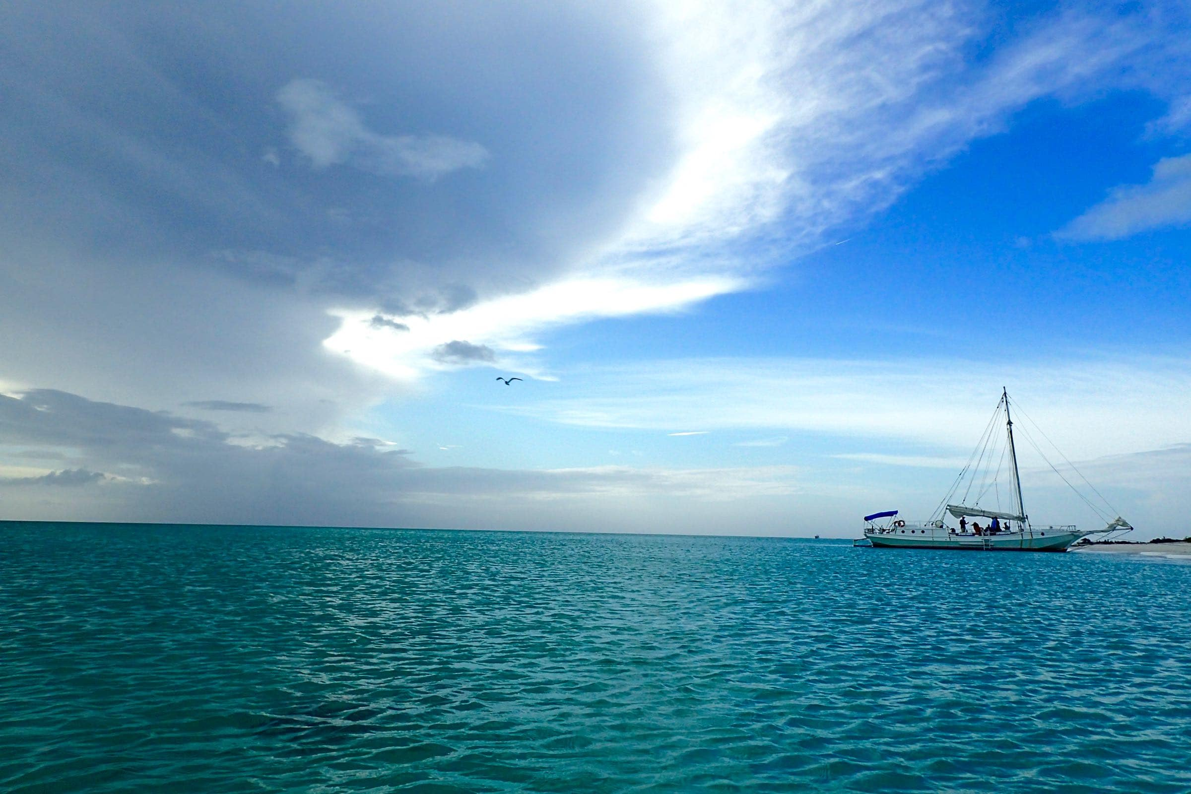 Anchored Ahead Of A Squall On Pine Cay Turks And Caicos