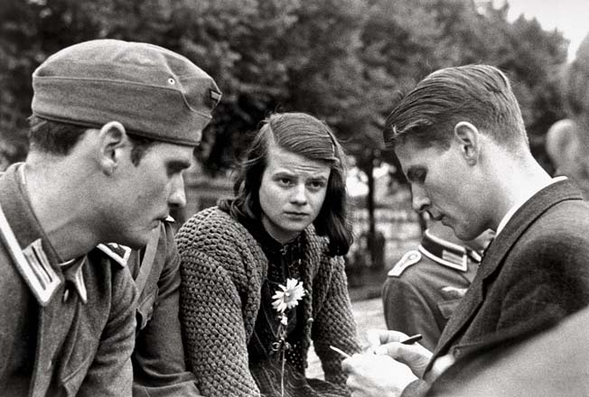 Hans Scholl, Sophie Scholl and Christoph Probst (left to right).