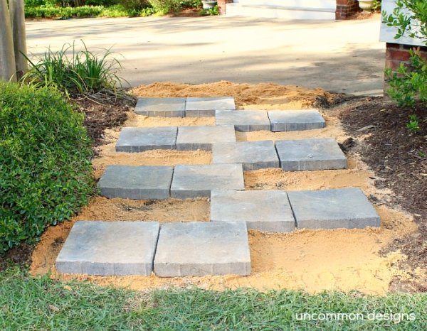 "creating paver stone ""zipper"""