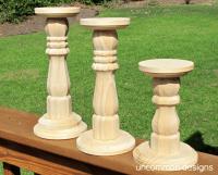Wood Candle Holders Unfinished | www.pixshark.com - Images ...