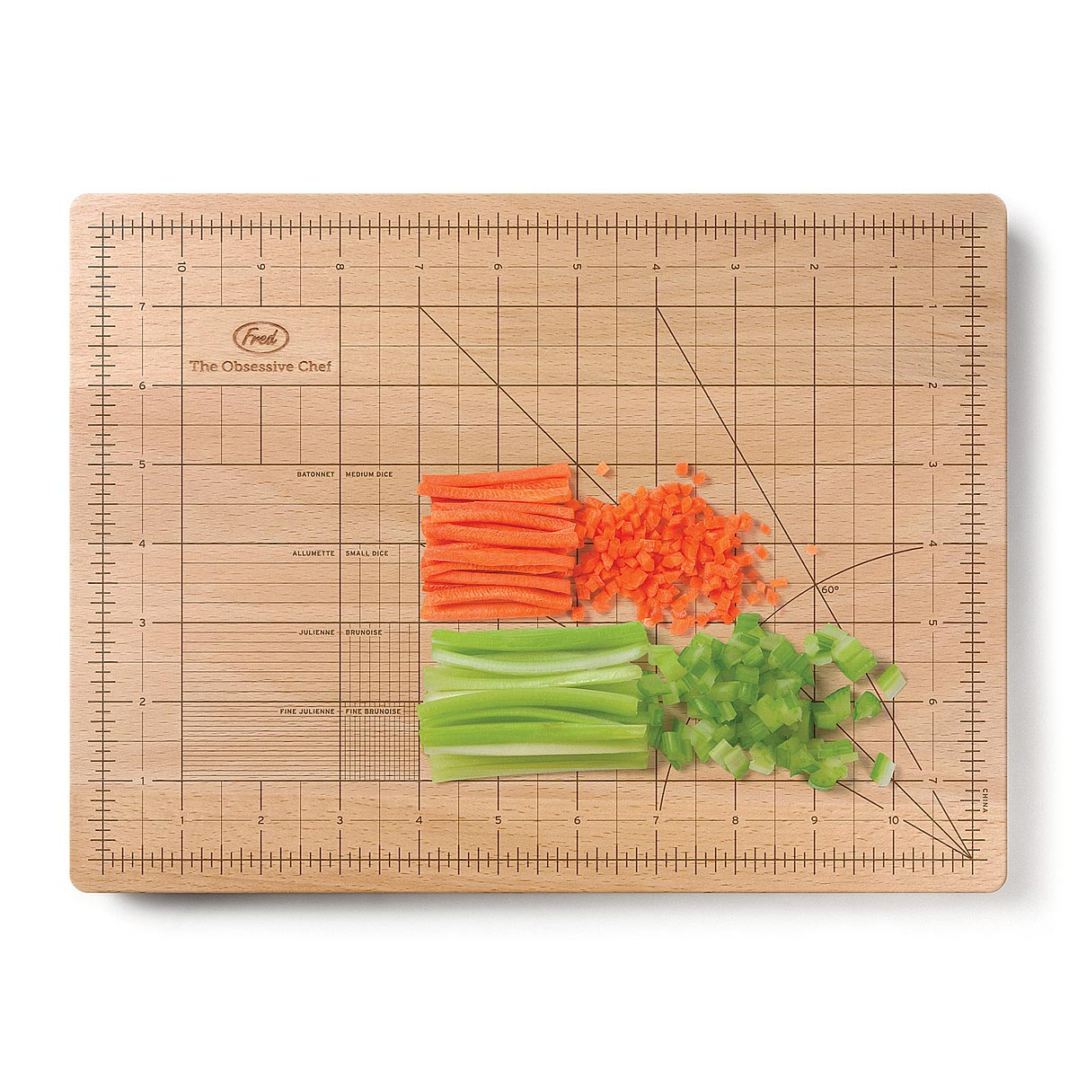 kitchen cutting boards hanging lights over island obsessive chef board ruler grid wood uncommongoods