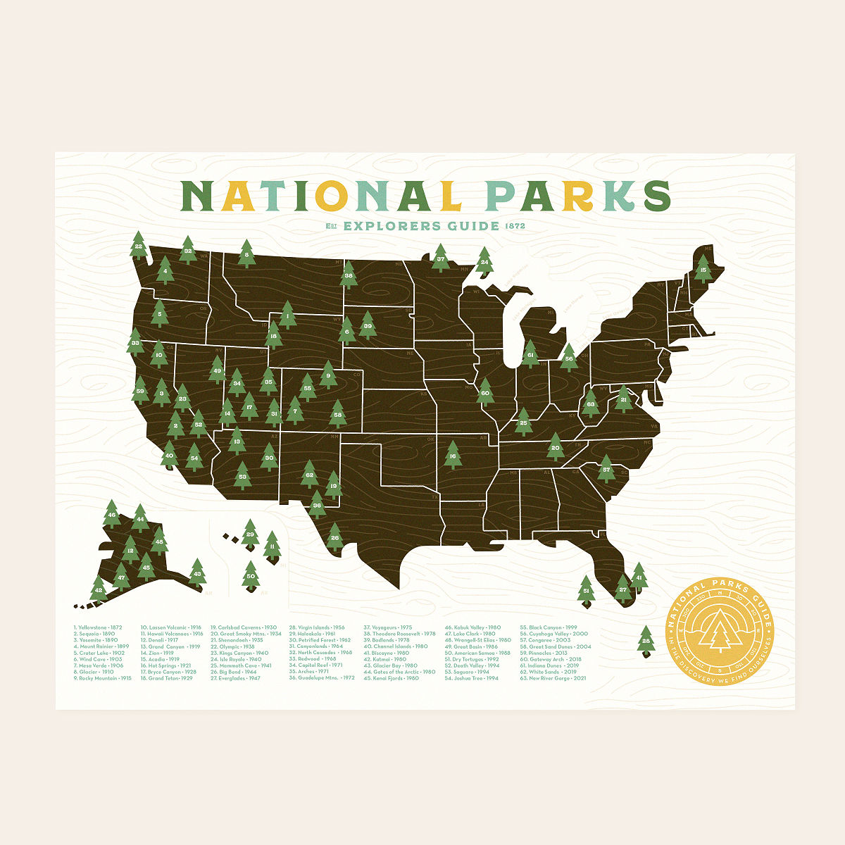 National Parks Explorer Map
