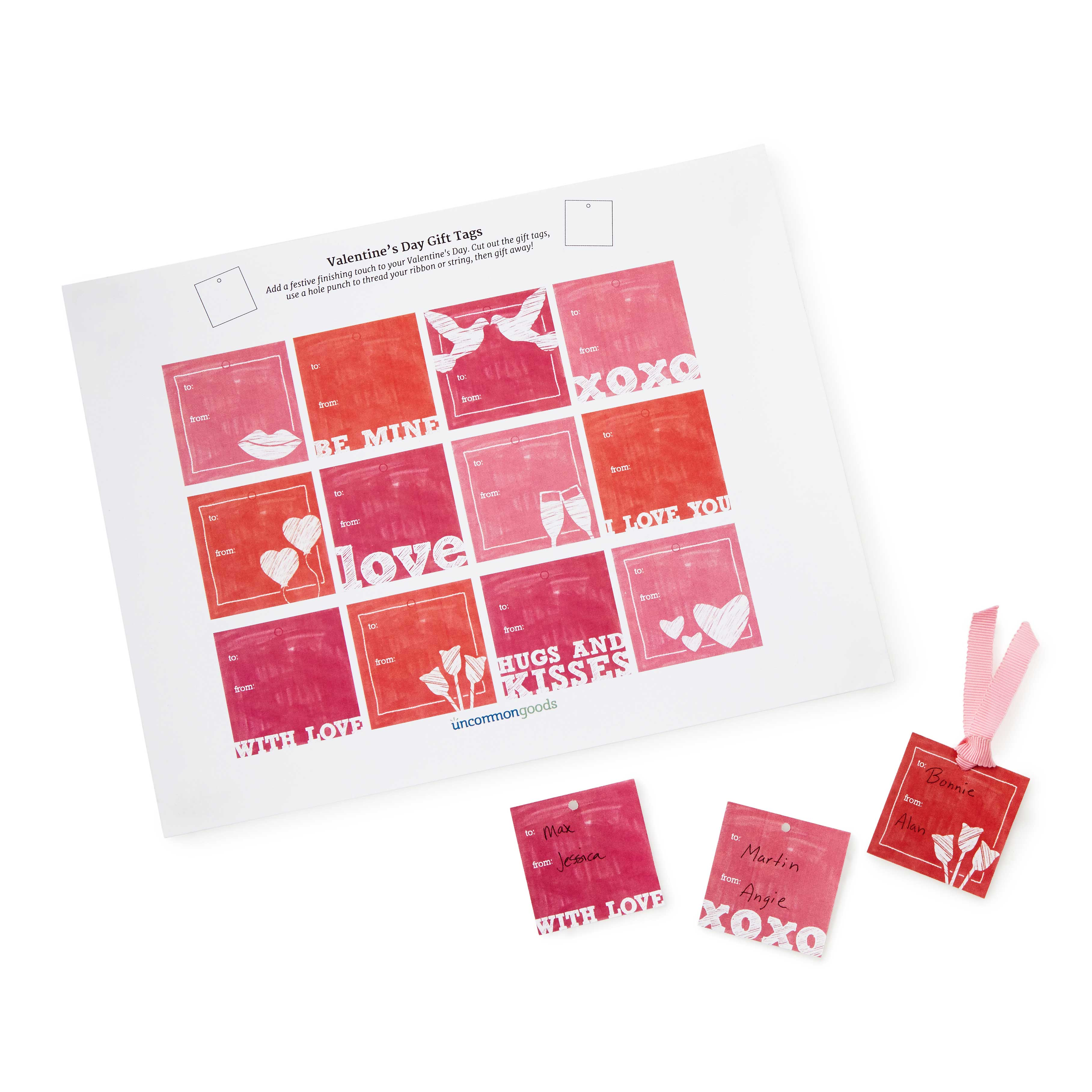 Printable Valentine's Day Gift Tags 1 Thumbnail
